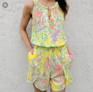 Lilly Pulitzer for Target Yellow Print Romper